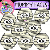 Mummy Faces: Halloween Clipart {DobiBee Designs}