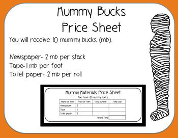 Mummy Halloween STEM Engineering Challenge