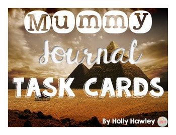 Mummy Journal Task Cards