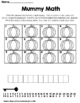 Halloween Math Activity-Mummy Math Center