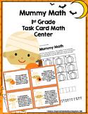 Halloween Math Task Cards-Mummy Math Center