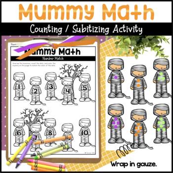 Mummy Math Number Matching Preschool Activity