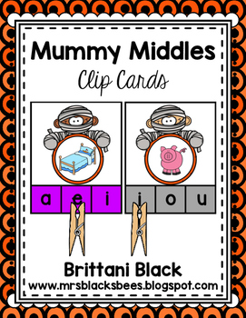 Mummy Middles~ Clip Cards