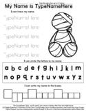 Mummy - Name Tracing & Coloring Editable Sheet - #60CentFi