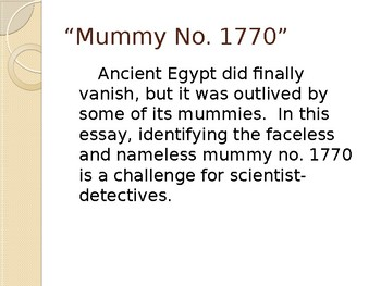 Mummy No. 1770 by Patricia Lauber