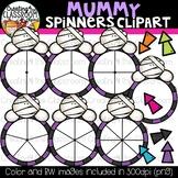 Mummy Spinners Clipart Bundle {Halloween Clipart}