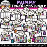 Mummy Ten Frames Clipart Bundle {Halloween Clipart}
