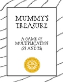 Mummy Treasure: Math Multiplication Board Game (Multiply with 2's & 3's)
