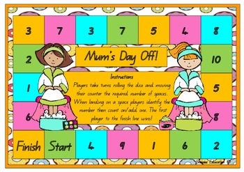 Mum's Day Off Count on One Board Game