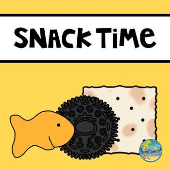Snack Time  File Folder Game