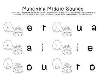 Munching Middle Sounds - K.RF.2, K.RF.3