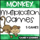 Munching Monkey Multiplication Board Games