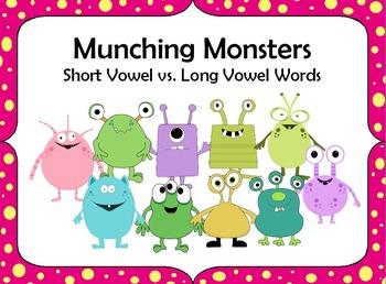 Munching Monsters Flipchart - Short Vowel vs. Long Vowel Words
