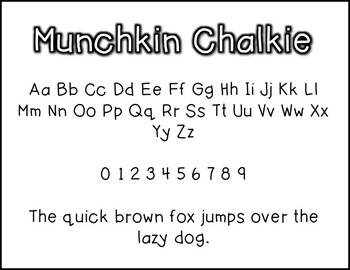 Munchkin Chalkie: A Munchkin Original Font for Personal & Commercial Use