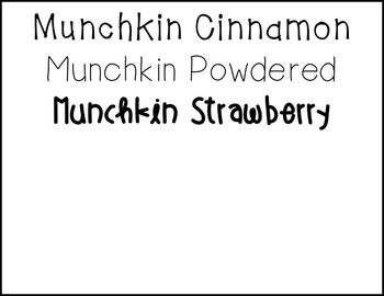 Munchkin Fonts Bundle: FREE fonts for personal & commercial use