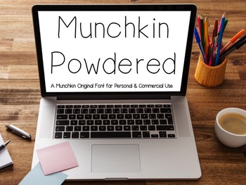 Munchkin Powdered: A FREE font for personal & commercial use
