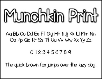 Munchkin Print: A Munchkin Original Font for Personal & Commercial Use