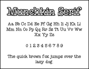 Munchkin Serif: A Munchkin Original Font for Personal & Commercial Use