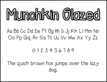 Munchkin Glazed: A FREE font for personal & commercial use