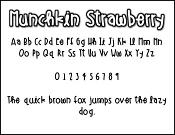 Munchkin Strawberry: A FREE font for personal & commercial use