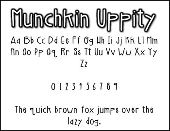 Munchkin Uppity: A Munchkin Original Font for Personal & Commercial Use