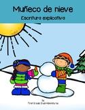 Muñeco de Nieve Escritura explicativa