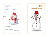 Muneco de Nieve Mini-Libro