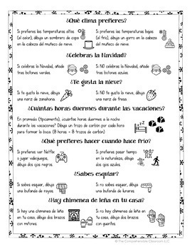 Muñecos de nieve: Snowman glyphs and Picture Talk in Spanish