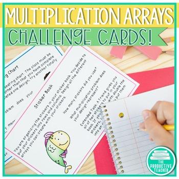 Mupltication Arrays: Math Rick Tasks - Task Cards