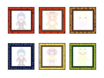 Muppet Themed Alphabet Labels