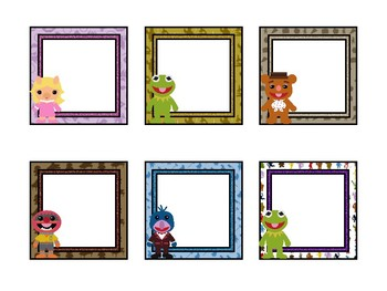 Muppet Themed Labels