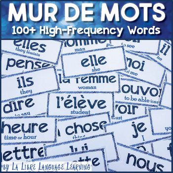 Mur de Mots High-Frequency French Word Wall for Comprehensible Input