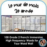 Le mur de mots - 2e année - 100 Grade 2 French Word Wall Words