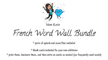 Mur de mots - French word wall