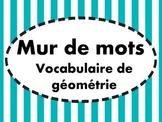 Mur de mots - Géométrie