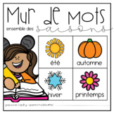FRENCH Vocabulary Seasonal Word Wall Bundle