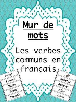 Mur de mots: Les verbes communs