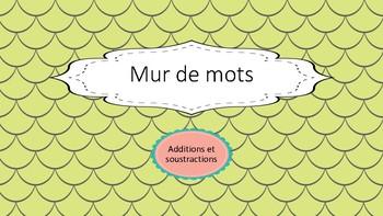 Mur de mots: additions et soustraction