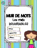 Mur de mots : mots invariables