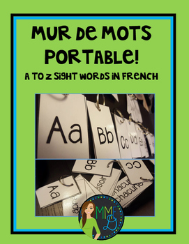 Mur de mots portable - Mots fréquents - French sight words