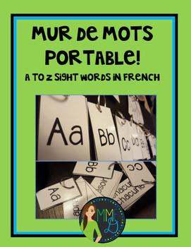Mur de mots portable - Mots fréquents - French sight words