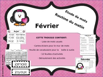 French-Étude de mots_février