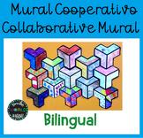 Mural cooperativo Collaborative Mural Bilingual Español Sp