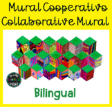 Mural cooperativo Cube Collaborative Mural Bilingual Español Spanish Cubo 3D