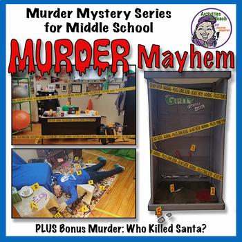 Murder Mysteries for Middle School: Murder Mayhem Bundle with Bonus Mystery