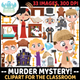 Murder Mystery/Detective Clipart (Lime and Kiwi Designs)