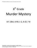 Murder Mystery (Equations and Functions)