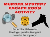 Murder Mystery Escape Room-Perfect for Halloween! Customize for Your School!