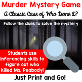 Mystery Game Making Inferences and Critical Thinking - End of the Year Activity