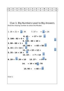 Murder Mystery Grade 4 Maths